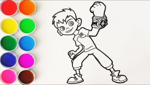 Cómo Dibujar Y Colorear A Ben 10
