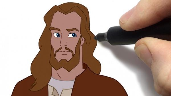Como Desenhar Jesus Desenhos Bíblicos Histórias Animadas Do Novo