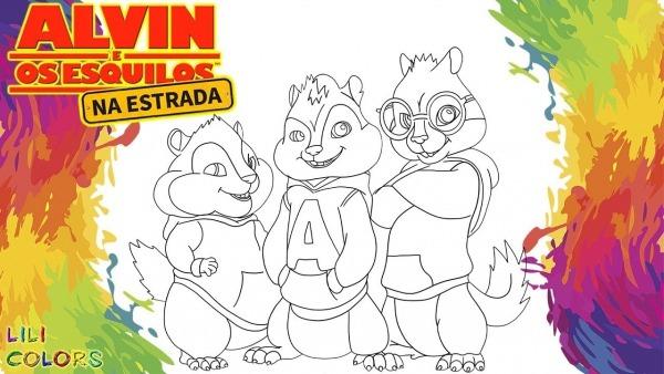 Pintar Alvin E Os Esquilos
