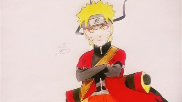 Como Desenhar Naruto Modo Sennin!! Passo A Passo!!