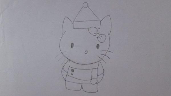 Como Desenhar A Hello Kitty (versão Natalina)