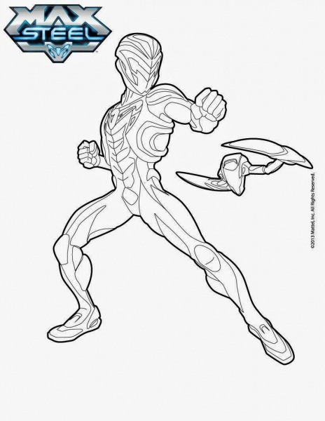 Desenho Para Colorir Do Max Steel