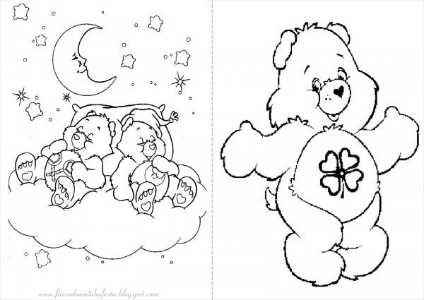 Imagens Para Colorir Ursinhos Carinhosos