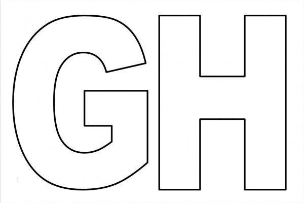 Moldes De Letras Grandes Para Imprimir Gh