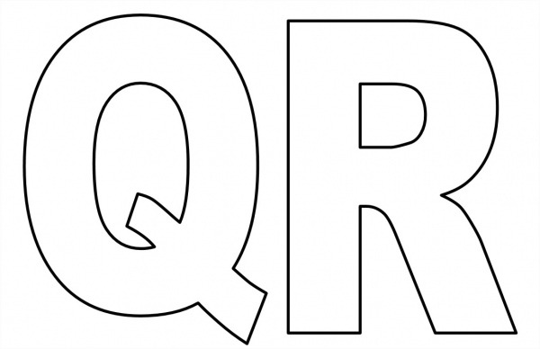 Moldes De Letras Grandes Para Imprimir Qr