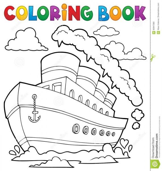 Navio Náutico 2 Do Livro Para Colorir Ilustração Do Vetor