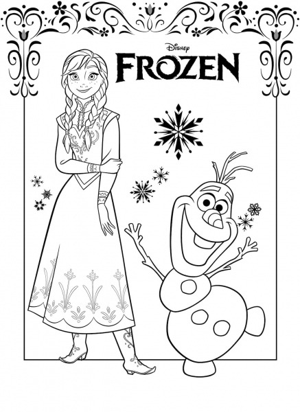 Paginas Para Colorir Frozen 2  100 Imagens Com Personagens Favoritos