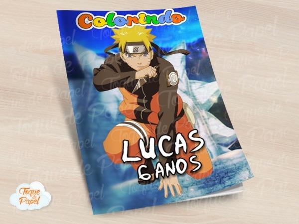 Revista Colorir Naruto No Elo7