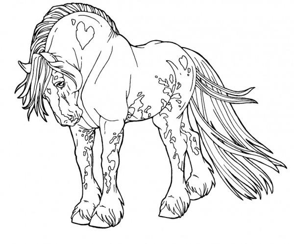 Desenhos De Cavalo Mustang Lindo Para Colorir E Imprimir