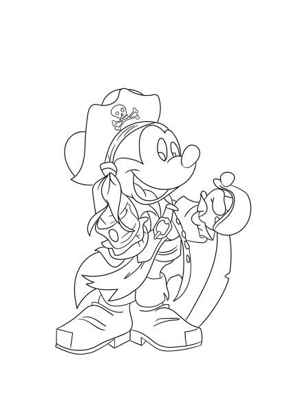 Desenhos De Pirata Mickey Mouse Para Colorir E Imprimir