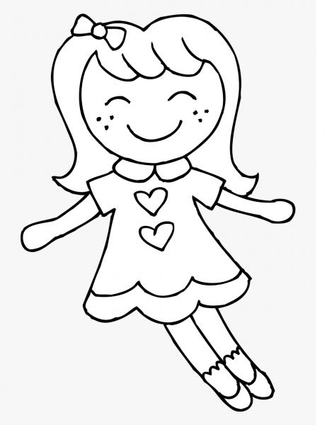 Desenhos De Sorrisos De Boneca Para Colorir E Imprimir