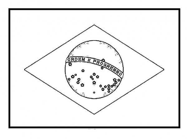 Desenhos De Bandeira Do Brasil 1 Para Colorir E Imprimir