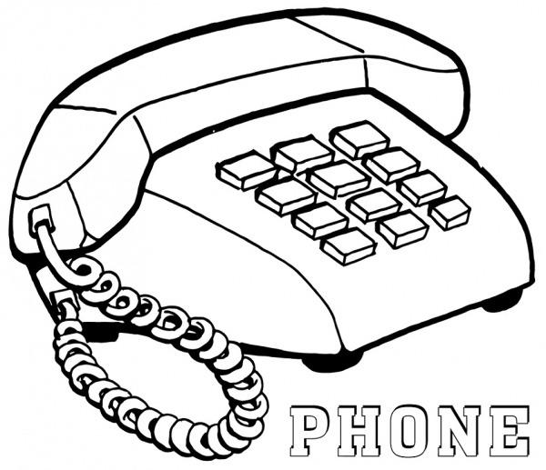 Desenhos De Telefone Simples Para Colorir E Imprimir