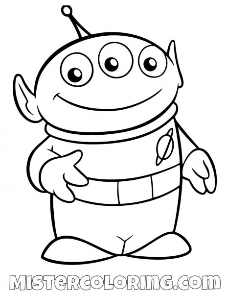 Alien Toy Story Coloring Page