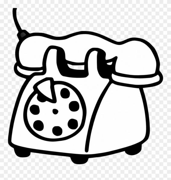 Telephone Clipart White Png