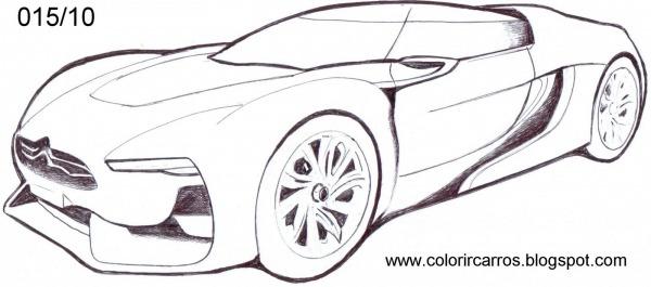 Carros Esportivos Para Colorir – Pampekids Net