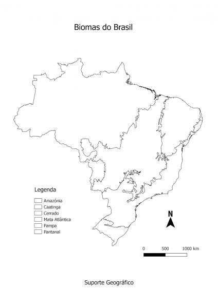Mapa Biomas Do Brasil Para Colorir