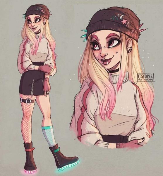 Desenho Garota Rebelde