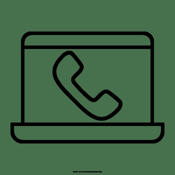 Telefone Celular Desenho Para Colorir