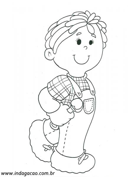 Desenho De Menino Da Roça Para Pintar – Baixar