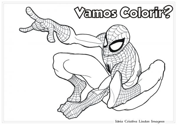 Homem Aranha Desenho Para Colorir