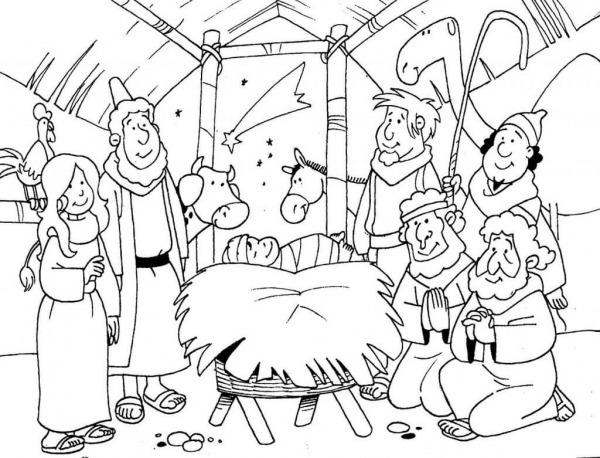 Desenhos De Natal Evangélico Para Colorir E Imprimir