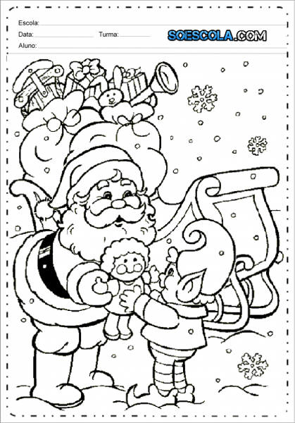 Desenhos Para Colorir Sobre Natal