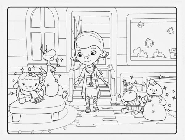 Desenho De Doutora Brinquedos Da Disney Para Colorir