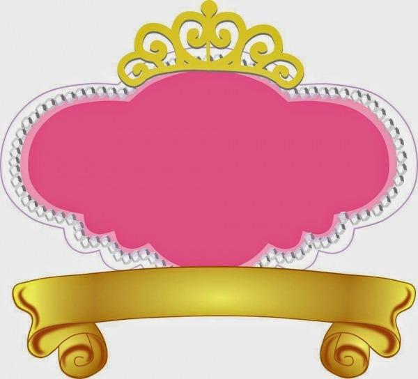 Fiesta De Princesas  Marcos, Toppers O Etiquetas Para Imprimir