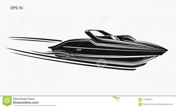 Ilustração Isolada Lancha Do Vetor Barco Luxuoso E Caro Ilustração