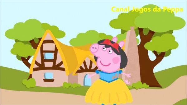 Peppa Pig Em Branca De Neve E Os Sete 7 Anões Eo Caçador E A Bruxa