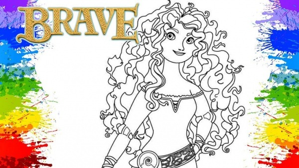 Princess Merida Brave Crayola Mess Free Coloring Book Page