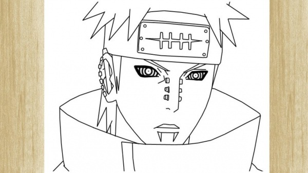 How To Draw Pain From Naruto     Como Desenhar O Rosto Do Pain