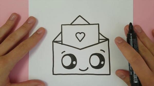 Como Desenhar Um Envelope De Amor Simples Divertido