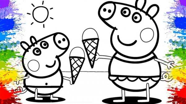 Desenho Da Peppa Pig Português Colorindo Desenhos Animados