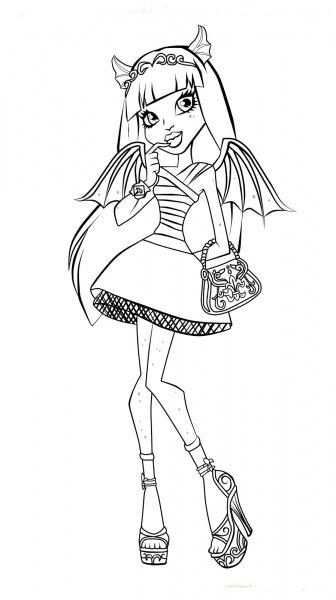 Monster High Desenhos Para Imprimir Colorir E Pintar – Desenhos