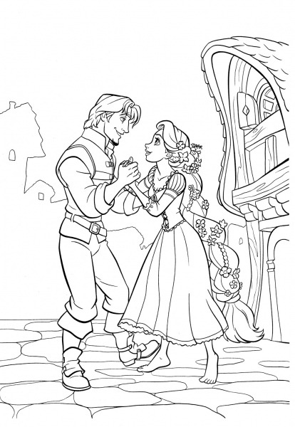 Desenhos De Enrolados Para Colorir, Pintar, Imprimir! Rapunzel